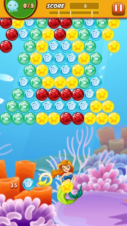 Bubble Shooter Mermaid Ocean : Claim to the throne