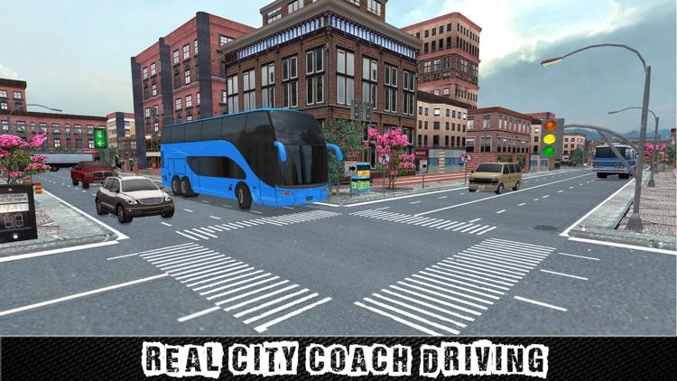 Real City Coach Bus Driver Simulator 3D screenshot-4