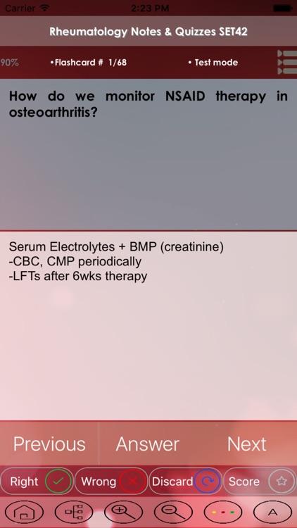 Rheumatology Test Bank & Exam Review App - 3500 Flashcards Study Notes - Terms, Concepts & Quiz screenshot-4