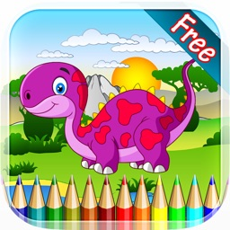 Dinosaur Coloring Book 4 - Drawing and Painting Colorful for kids games free