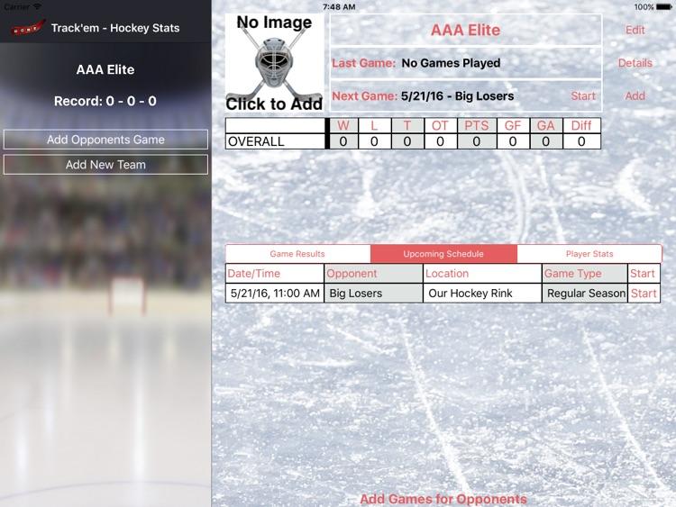 Track'em - Hockey Stats iPad
