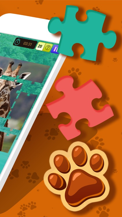 Animal Jigsaw Puzzle – Free Memory, Brain Exercise Game For Kids and Adult.s screenshot-1