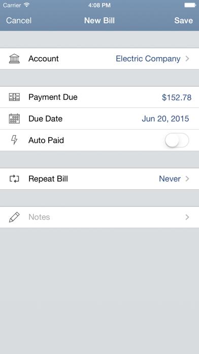 Billtracker For Iphone review screenshots