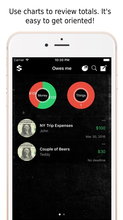 Owe Book - Lend and Borrow Money or Items