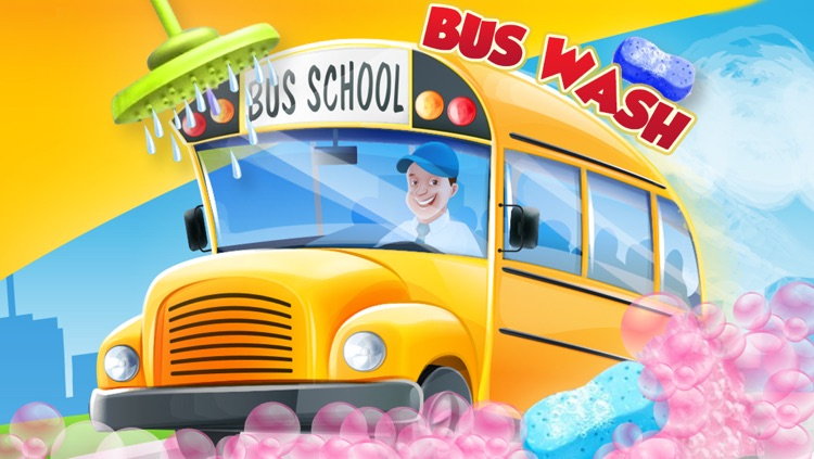 Little School Bus Wash Salon - Messy Bus Washing & Cleaning