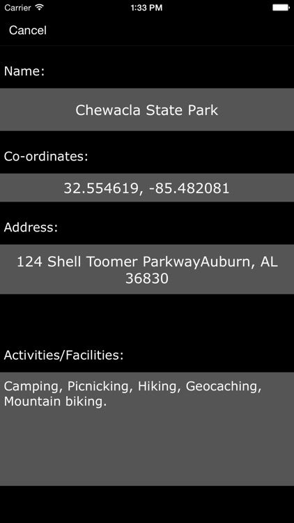Alabama State Parks & Recreation Areas