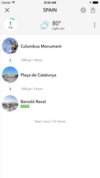 Screenshot of Trip planner Spagna & Portogallo di Tripomatic, guide turistiche e mappe offline5