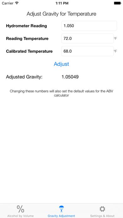 Hydrometer CalculatorScreenshot of 2