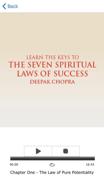 The Seven Spiritual Laws of Success  by Deepak Chopra Meditation Audiobook screenshot-3