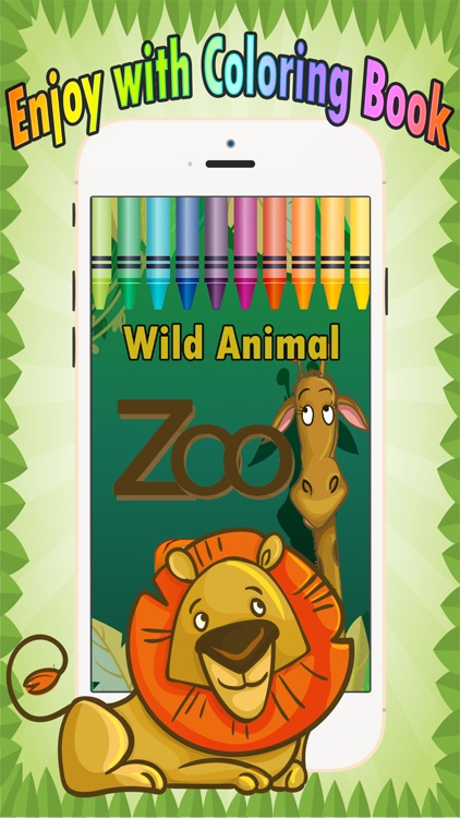 Wild animals Coloring Book: These cute zoo animal coloring pages provide learning skill games free for children and toddler any age