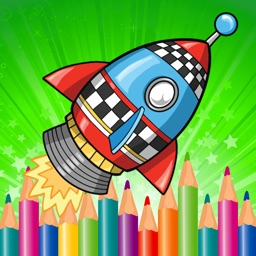 World Rocket Coloring Book for Kids Game Free