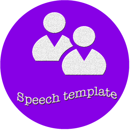 Speech template for PowerPoint