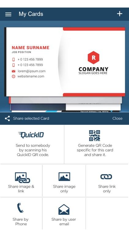 QuickBC: Business Card Maker screenshot-4