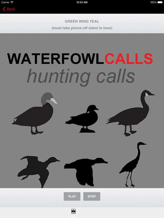 Waterfowl Hunting Calls - The Ultimate Waterfowl Hunting Calls App For Ducks, Geese & Sandhill Cranes & BLUETOOTH COMPATIBLE screenshot-0