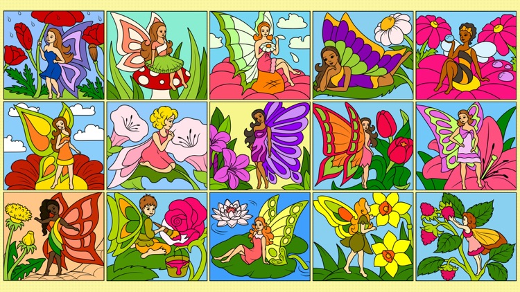 Fairy - Paint by Numbers - Coloring for Girls