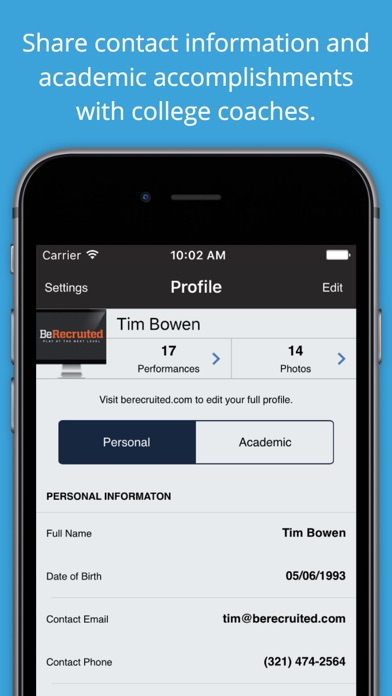 BeRecruited for High School Athletes app image