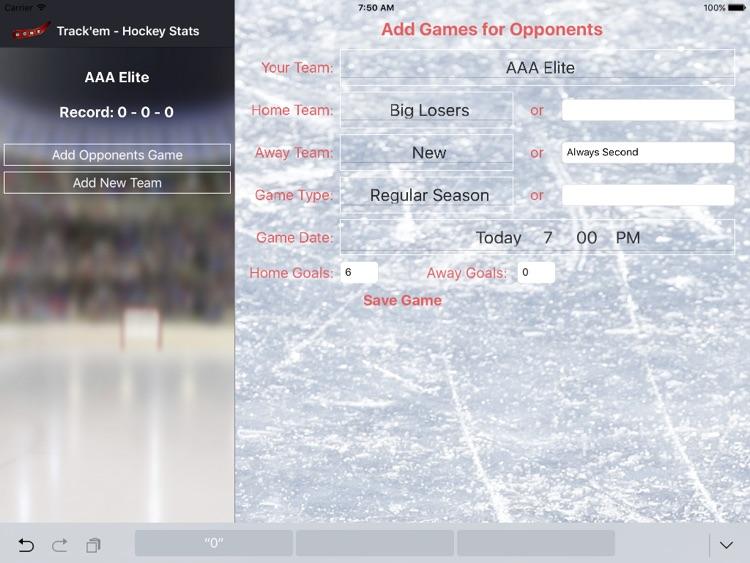 Track'em - Hockey Stats iPad screenshot-4
