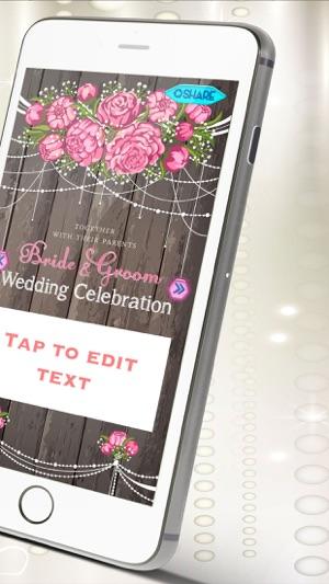 Wedding invitation maker create beautiful erds and custom wedding invitation maker create beautiful erds and custom invitations for wedding party on the app store stopboris Gallery