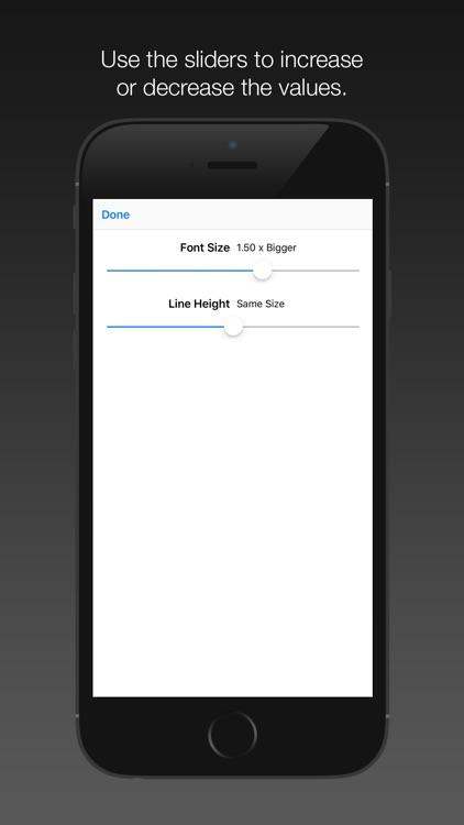 Font Size App Extension screenshot-3