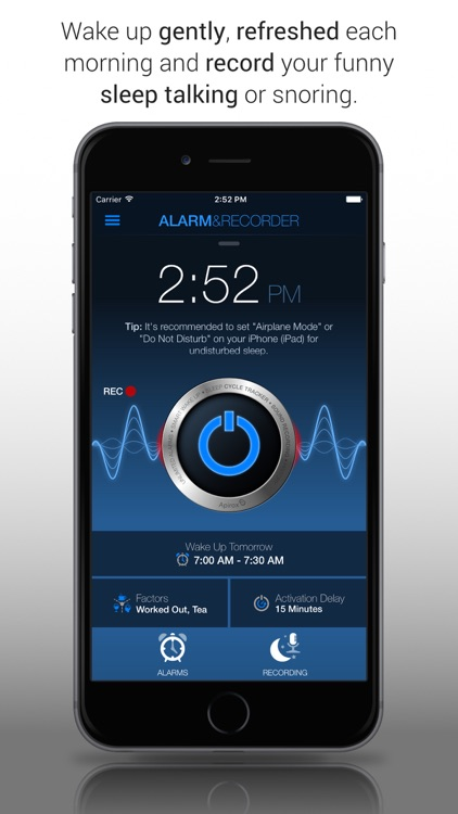 Clever Alarm Clock & Recorder screenshot-0