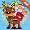 脑点图画书 - 圣诞节和圣诞老人着色页幼儿园学习教育点游戏免费为孩子和幼儿1- 10岁