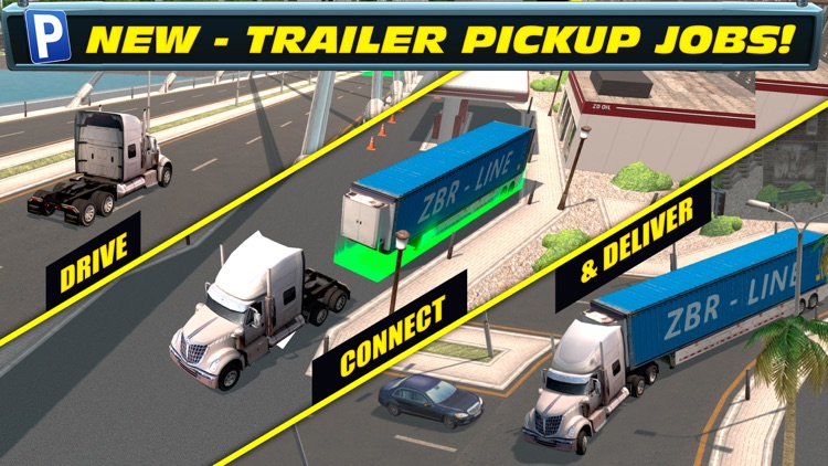Trailer Truck Parking with Real City Traffic Car Driving Sim