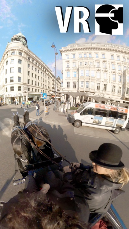 VR Virtual Reality Through Vienna in a Horse-Drawn Carriage - Fiaker Part 1 screenshot-0