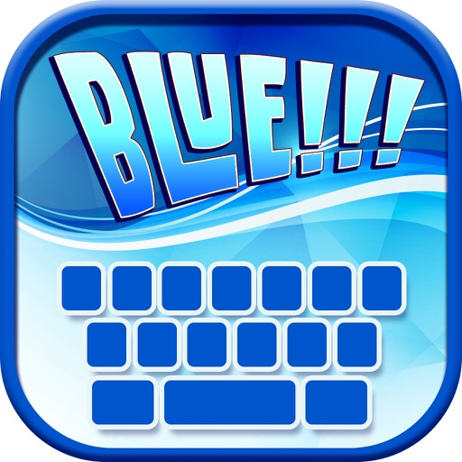 Blue Keyboard Maker! – Neon Keyboard Themes and Cute Color Backgrounds, Fancy Fonts & Emoji