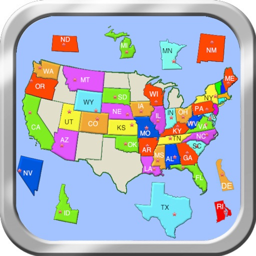 Puzzle Map Of The United States.United States Puzzle Map By Jenny Sun