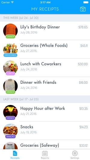 receipt snap easy receipt tracker on the app store