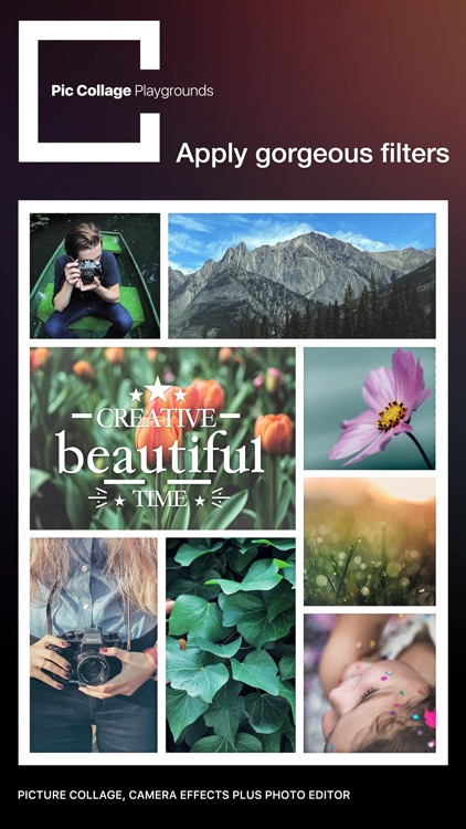 Pic Collage Playgrounds – picture collage, camera effects plus photo editor screenshot-3