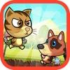 猫与狗走 - 动物运行游戏冒险为孩子们