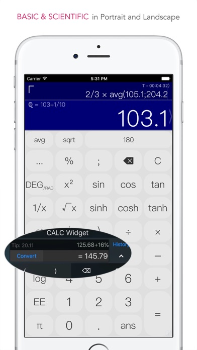 CALC Swift Screenshots