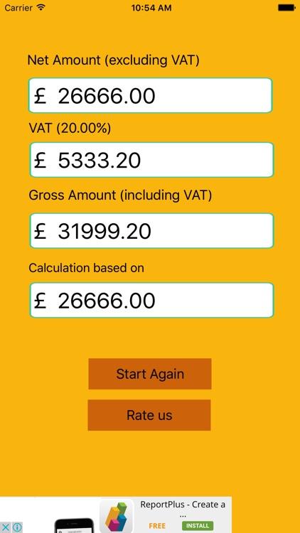 Vat Tax Calculator Free