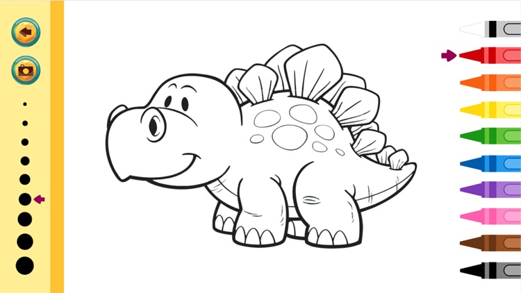 Dinosaurs Coloring Book - Painting Game for Kids screenshot-3