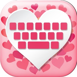 Love Keyboard  - Cute Pink Keyboard for Girls with colorful Glitter Backgrounds and Cool Fonts