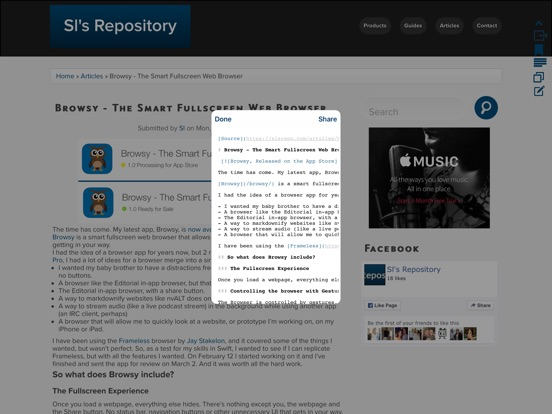 Browsy - The Smart Fullscreen Web Browser and Website