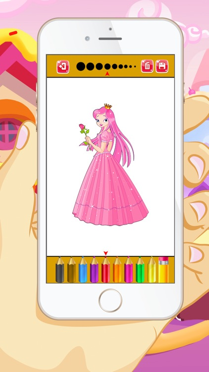 Princess Coloring Book - Educational Color and Paint Games ...