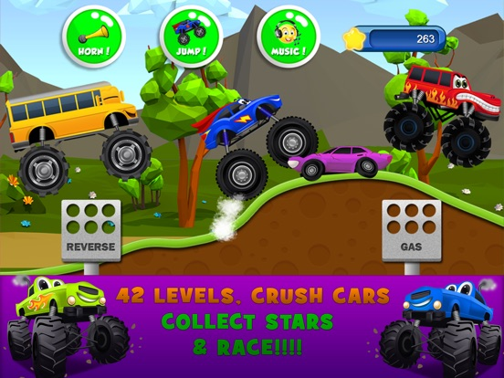 Скачать игру Monster Trucks Kids Racing Game