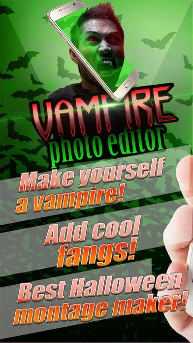 吸血鬼 写真 編集者 - 怖い 顔 チェンジャー 画像 モンタージュ とともに ホラー ステッカー紹介画像1