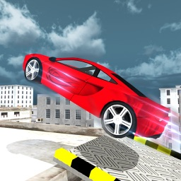 Flying Rooftop Car Sprint Simulator 3D - Stunt Car Driving Run Test Game
