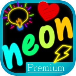 Neon draw – laser drawings with bright colors Premium
