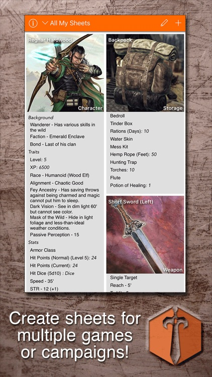 Sheet Yourself: Create/Manage RPG Character Sheets screenshot-0