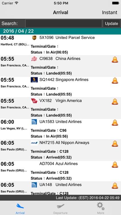 NY Newark Liberty Airport(EWR) Flight Info
