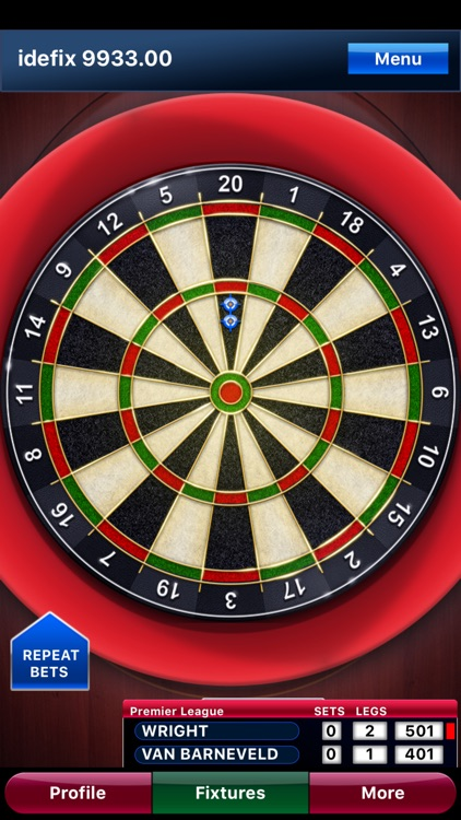 Pdc roulette darts