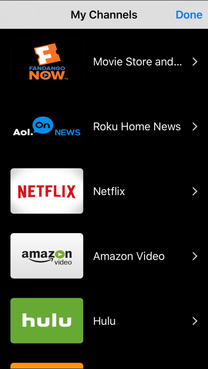 RMote Roku Remote Screenshot