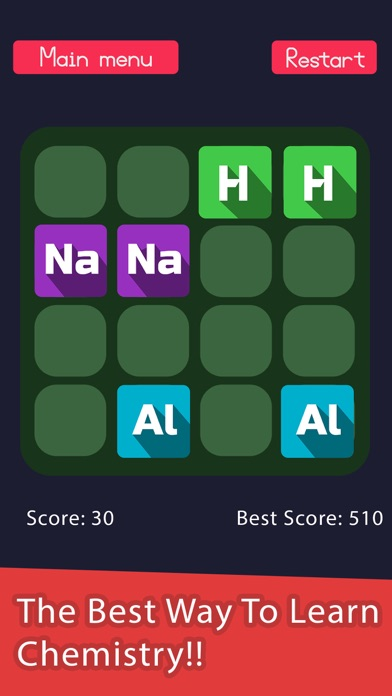 2048 in periodic table a chemistry puzzle game by encrypto ios screenshots urtaz Choice Image