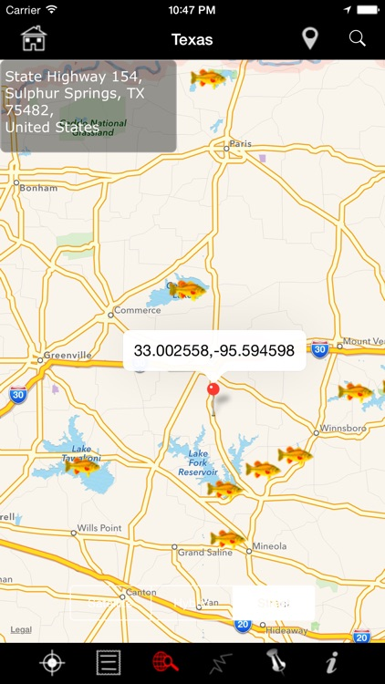 USA Fishing Lakes: Fish Species, Depths and Map screenshot-3