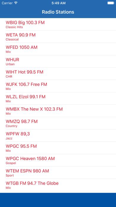 Radio Channel D.C. FM Online Streaming screenshot one