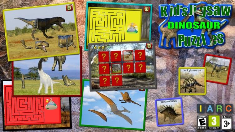 Kids Dinosaur Rex Jigsaw Puzzles - educational shape and matching children`s game